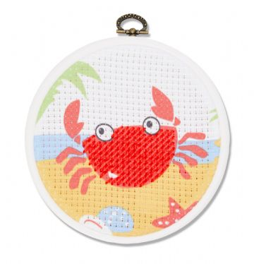 DMC My First Stitches Cross Stitch Kit - The Crab BK1842